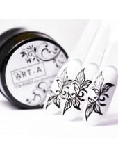 Гель-краска для дизайна ногтей без липкого слоя чёрная LUX, 5мл, Art-A